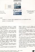 France-1978-document De La Poste- Armistice (n°44) - Documents De La Poste