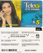 SURINAM - Fareisa Joemmanbaks, Teleg Prepaid Card $5, Used