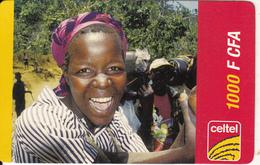 NIGERIA - Woman, Celtel Prepaid Card 1000 F CFA, Exp.date 30/04/06, Used