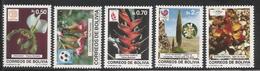 1989  Bolivia Flowering Plants Olympics Flora  Complete Set Of 5 MNH - Bolivia