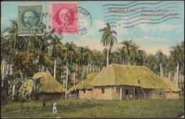 POS-783 CUBA POSTCARD 1928. MATANZAS. PAISAJE CAMPESTRE. COUNTRY HOUSE BOHIO. - Cuba