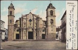 POS-790 CUBA POSTCARD 1905. HABANA, IGLESIA CATEDRAL, CHURCH CATHEDRAL TO ENGLAND. - Cuba