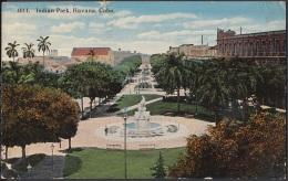 POS-794 CUBA POSTCARD 1919. HABANA, INDIA PARK. PARQUE DE LA INDIA. - Cuba
