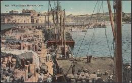 POS-798 CUBA POSTCARD CIRCA 1920. HABANA, WHARF SCENE. PUERTO MUELLE DE CABALLERIA. - Cuba