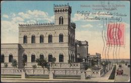 POS-809 CUBA POSTCARD 1921. HABANA, VEDADO HOUSE TO CHECOSLOVAQUIA. CASA DEL VEDADO. - Cuba