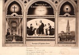 J.FAURE Baptême 1928 Communion Solennelle Et Confirmation 1938 St Charles De Serin LYON Curé RIVIERE - Images Religieuses