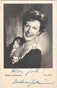 Pf. Barbara GALLAUNER (signature Autographe) - Artistes