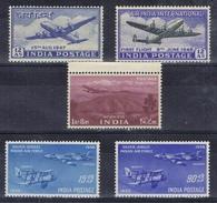 DO 5628  LOT INDIA  XX  NIEUW  YVERT NRS LP 1-2-6-7-8 COTE € 32,00 ZIE SCAN
