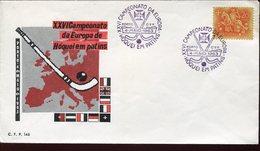 21640, Portugal, Special Postmark 1963 European  Roller Rink Hockey Champ., Porto