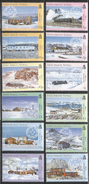 2005 British Antarctic Territory Bases Postmarks Definitives Complete Set Of 12 MNH - Ungebraucht