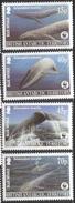 2005 British Antarctic Territory Blue Whales WWF Complete Set Of 4 MNH - Ungebraucht