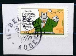 """France - Sourires """"Le Chat"""" De Philippe Geluck YT A56 (3825) Obl. Cachet Rond Sur Fragment - France"""