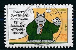 """France - Sourires """"Le Chat"""" De Philippe Geluck YT A56 (3827) Obl. Cachet Rond Sur Fragment - France"""