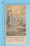 - Die Cut -Pierre Julien Eymard, + Priere - Image Pieuse Holy Card Santini- 2 Scans - Images Religieuses