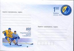 21655 Ukraina , Stationery Cover 2010 , Eis Hockey