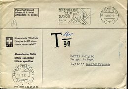 21656  Switzerland Cover  Circuled 1982  Free Of Charge (tax !!)  Davos Spengler Cup 1982  , Eis Hockey