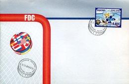 21658  Finland Fdc 2003   , Eis Hockey,  Hockey On Ice