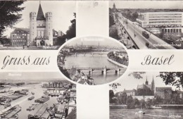 Switzerland Gruss aus Basel Spalentor Hallenschwimbad Rheinhafen
