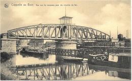 Capelle-au-Bois NA2: Vue Sur Le Nouveau Pont Du Chemin De Fer (Péniches ) - Kapelle-op-den-Bos