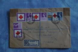 2574 GB Grande Bretagne 1965 Registered Southport Le Havre France Croix Rouge Red Cross Upper Aughton