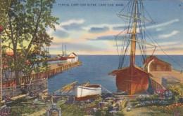 Massachusetts Cape Cod Typical Waterfront Scene 1937 - Cape Cod