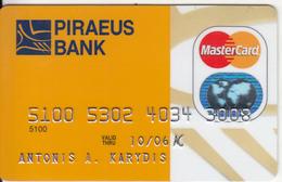 GREECE - Piraeus Bank, Master Card, Used - Geldkarten (Ablauf Min. 10 Jahre)