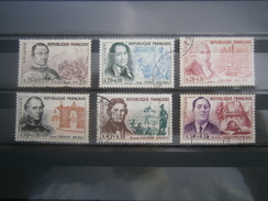 Timbres Oblitérés De 1961 N° 1295 à 1300 Puget, Daumier, Coulomb, Du Guesclin, Drouot Et Apollinaire - Francia