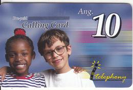 NETHERLAND ANTILLES - Children, I Telephony Prepaid Card Ang. 10, Exp.date 31/12/01, Used - Antillen (Niederländische)