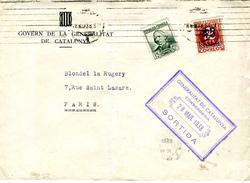 1938 Carta Con Marca De La GENERALITAT DE CATALUNYA  CONSERGERIA Y AERONAUTICA   Ref EL590