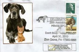 USA. Adopt A Pet., Adoptez Un Chat Ou Chien ,Zion Grove, Pennsylvanie. Enveloppe Souvenir,adressée Floride - Cani