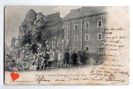 38845-ZE-04-Briançon-Corvée De Neige Au Fort Des Têtes-------------animée-militaires - Briancon