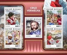 GUINE BISSAU 2017 SHEET RED CROSS CRUZ ROJA CROIX ROUGE HENRI DUNANT Gb17307a - Guinée-Bissau