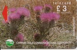 CARTE-MAGNETIQUE-CHYPRE-3£-CHARDONS En FLEURS-TBE - Fleurs