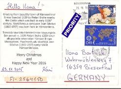 Finland & Postal, Hameenlinna To Biensenthal Alemanha 2015 (757)