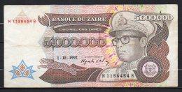 518-Zaïre Billet De 5m De Zaïres 1992 N115B - Zaire