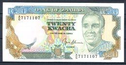 460-Zambie Billet De 20 Kwacha 1989-91 AG717 Sig.9 Neuf - Zambia