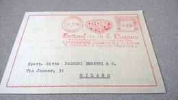 ITALIA AFFRANCATURA MECCANICA ROSSA - EMA 1958 SAN NAZZARO BOTTONIFICIO - LAVORAZIONE MADREPERLA - Affrancature Meccaniche Rosse (EMA)