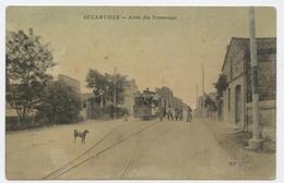 Aucamville, Toulouse, Arrêt Des Tramways, Au Verso, Cachet Postal, Aucamville, Hte Garonne, 1909 - France