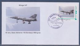 Meeting Aérien De La Base Aérienne De Bordeaux Mérignac Les 13 & 14 Mai 2017 Avion Mythique Mirage IV P - Marcophilie (Lettres)