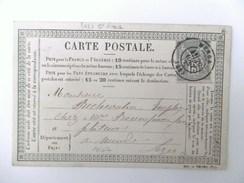 (9a) Carte Postale Précurseur Avec Sage 77 Type II Du 28/8/77 - Entiers Postaux