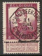 Nr. 122 Met PRACHTIGE Telegraafstempel SCHAERBEEK (ZUID) / SCHAERBEEK (SUD) En In Goede Staat (zie Ook Scan) !