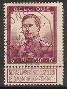 Nr. 122 Met PRACHTIGE Telegraafstempel MONS / BERGEN En In Goede Staat (zie Ook Scan) !