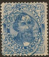 ARGENTINA 1888 50c Blue SG 121 U #ZV153 - Argentina