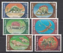 Bulgarir 1990 Mi.nr: 3840-3845 Prähistorische Tiere  Oblitérés / Used / Gestempeld