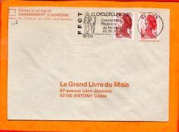 LOIRET, Gien, Flamme SCOTEM N° 7116, Concentartion Fédérale Cyclotourisme, 25-26-27 Mai - Mechanical Postmarks (Advertisement)