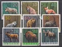 Pologne 1965  Mi.nr: 1635-1643 Tiere Des Waldes  OBLITERE / USED / GEBRUIKT