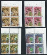 Switzerland 1989 Pro Juventute 4 X Corner Margin Blocks Of Four Mint Never Hinged Original Gum Post Office Fresh