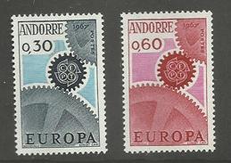 ANDORRE FRANCAIS - N°YT 179/80 NEUFS* AVEC CHARNIERE - COTE YT : 25€ - 1967