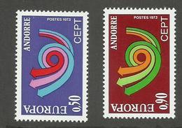 ANDORRE FRANCAIS - N°YT 226/27 NEUFS* AVEC CHARNIERE - COTE YT : 40€ - 1973