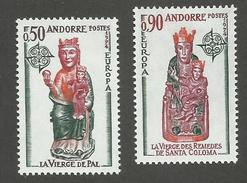 ANDORRE FRANCAIS - N°YT 237/38 NEUFS* AVEC CHARNIERE - COTE YT : 55€ - 1974